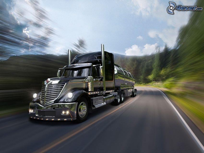 Lone Star Harley-Davidson, camion, la vitesse