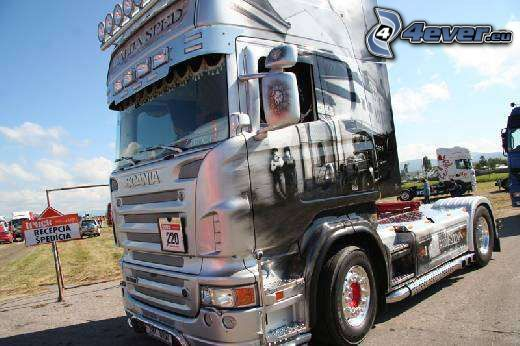 Scania, truck, camion, voiture, tuning