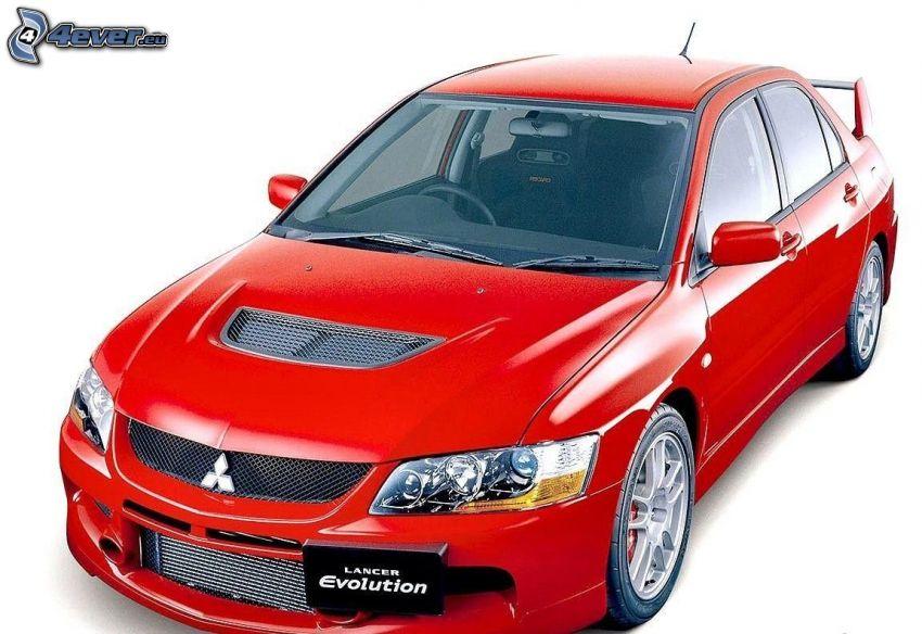 Mitsubishi Lancer Evolution, voiture de course