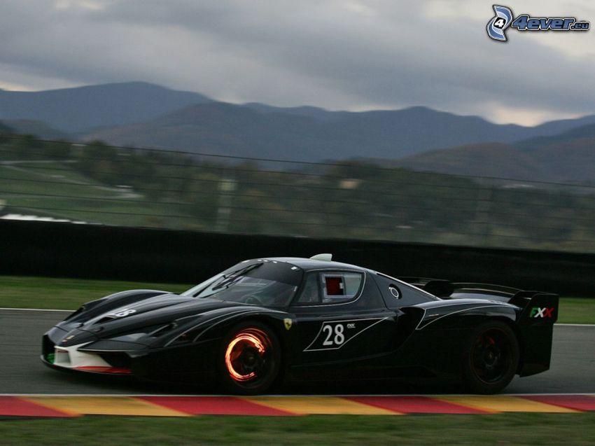 Ferrari FXX, la vitesse, montagne