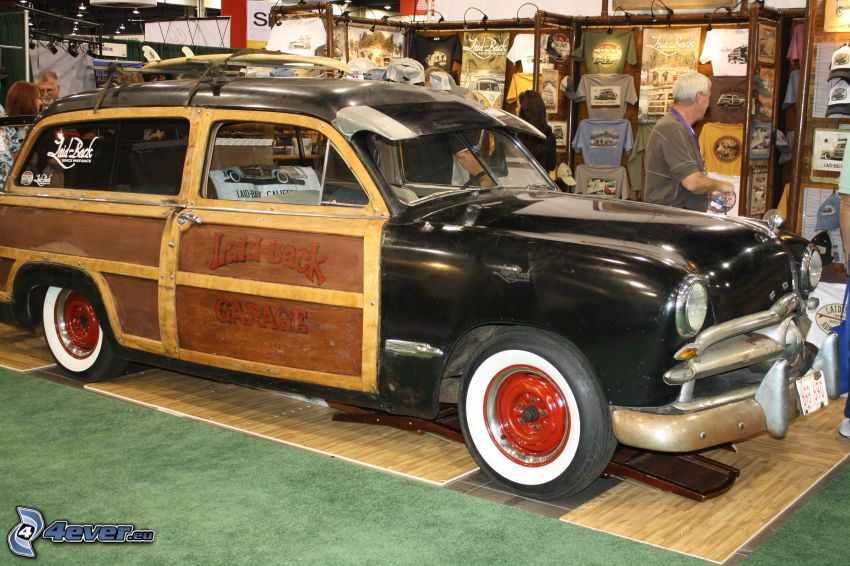 Ford Woody, automobile de collection, exposition