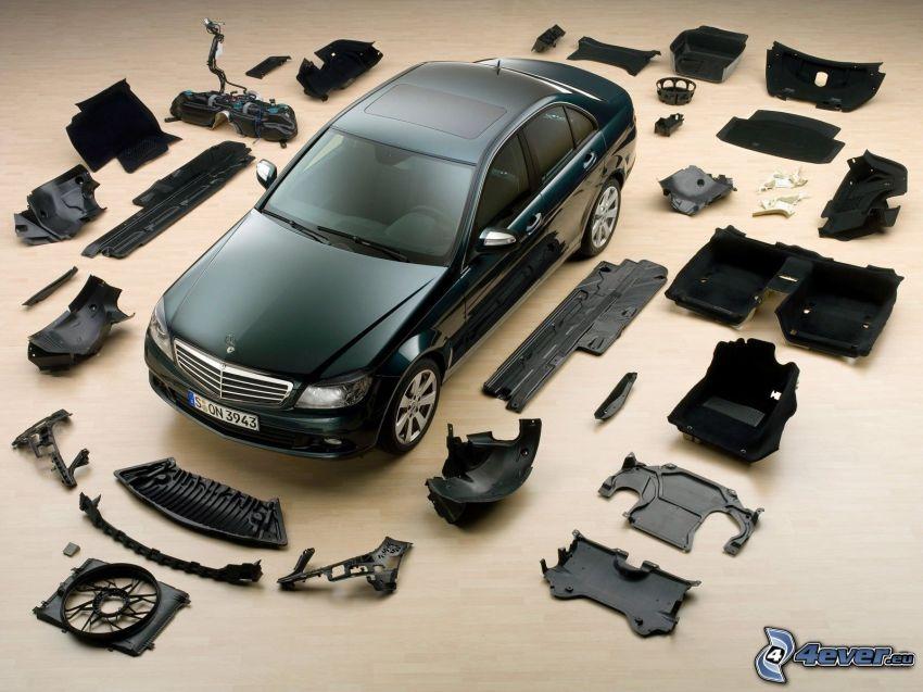 Mercedes-Benz C, pièces