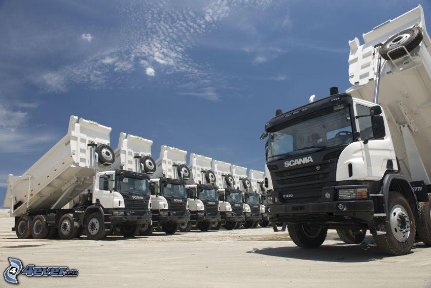 Scania, route, ciel