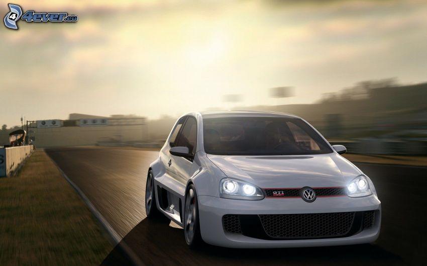 Volkswagen Golf, tuning, la vitesse
