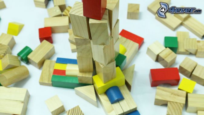 blocchi di legno, giocattolo
