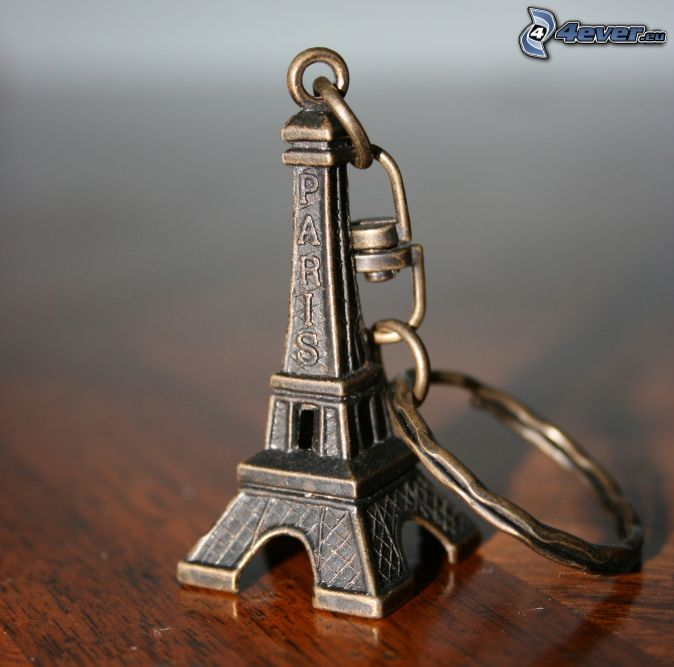 portachiavi, Torre Eiffel, accessorio moda