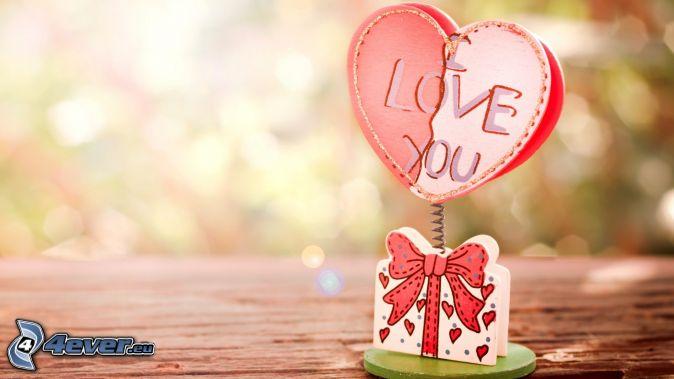 I love you, regalo, cuore