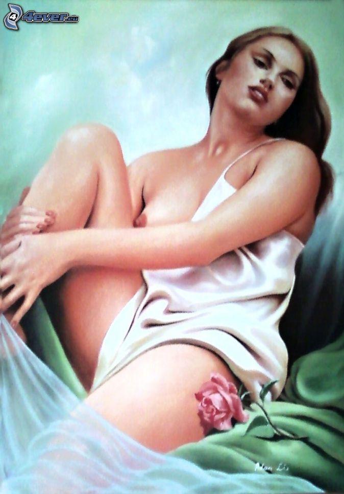 Annuncio donna dipinta