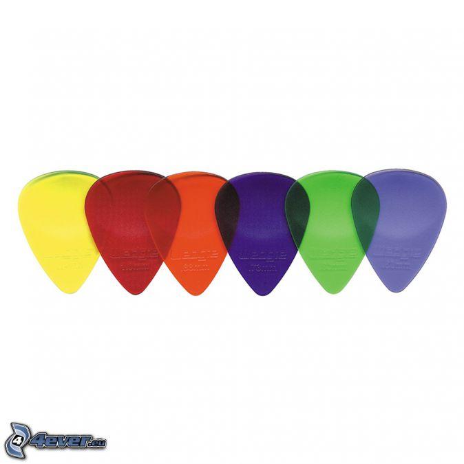 plettri, colori