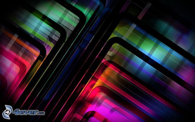 Linee astratte colorate for Immagini astratte per desktop