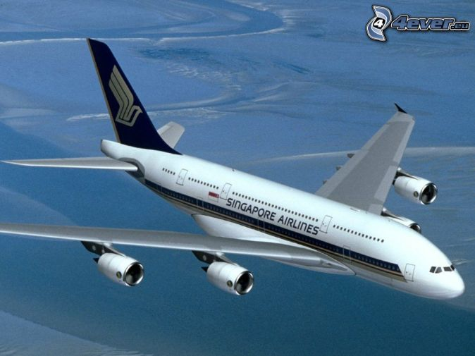 Airbus A380, Singapore Airlines, aereo