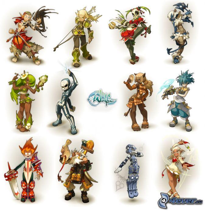 Wakfu, anime personaggi