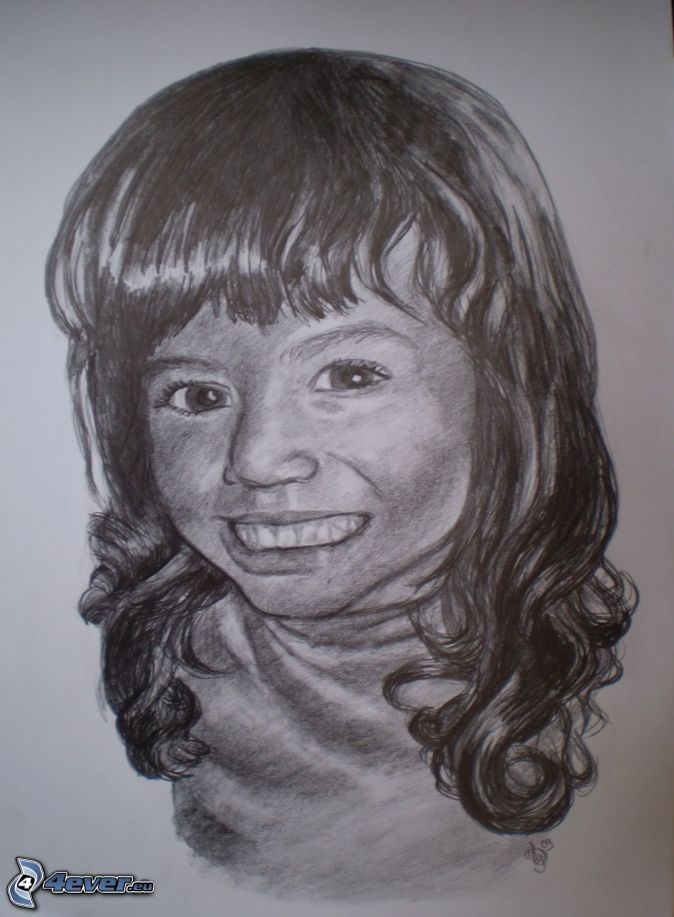 Ritratto - Immagine di una ragazza a colori ...