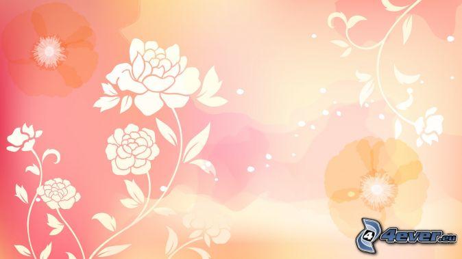 Sfondo rosa for Fiori disegnati
