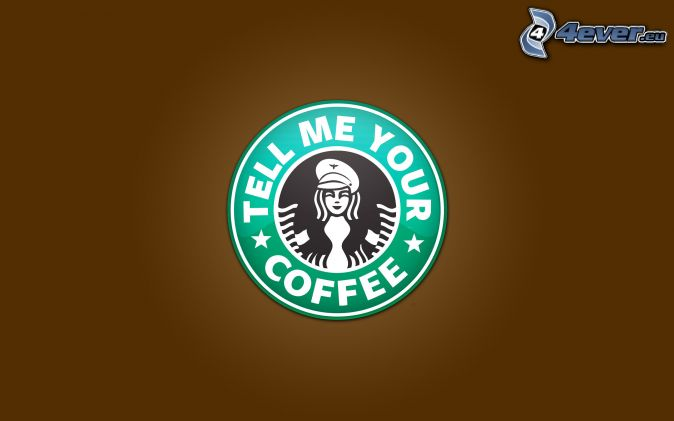 Starbucks, text