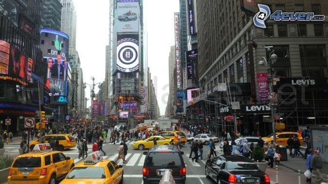 Times square new york strada