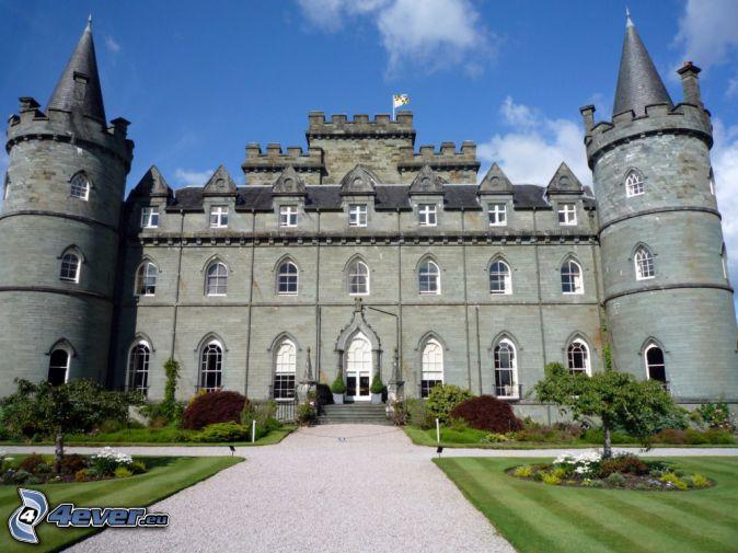 castello Inveraray, parco, marciapiede