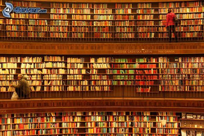 Grande biblioteca , libri
