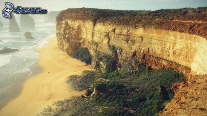 scogliera, rocce nel mare