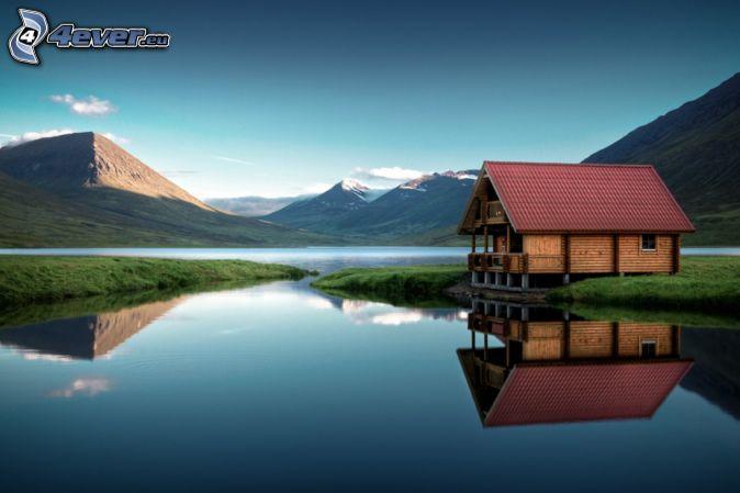 Montagne for Piani casa sulla riva