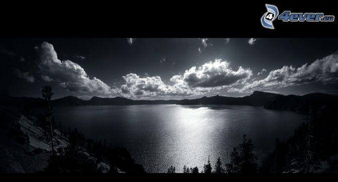 Lago for Disegni bianco e nero paesaggi