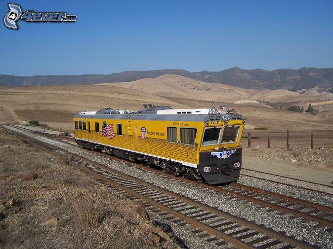 locomotiva, Union Pacific, montagna, rotaia vignoles