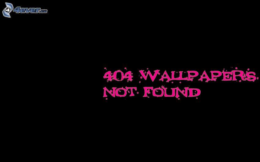 404 error, sfondo nero