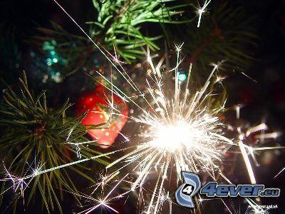 albero di Natale, petardi