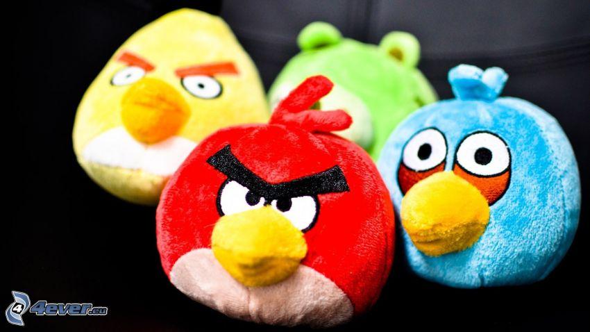 Angry birds, animali di peluche