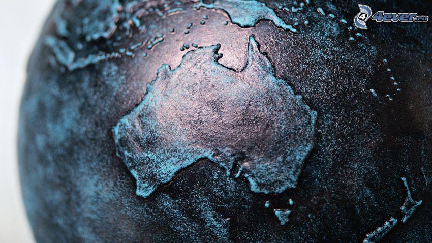 Australia, mappa del mondo