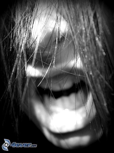 bocca, capelli, nervi