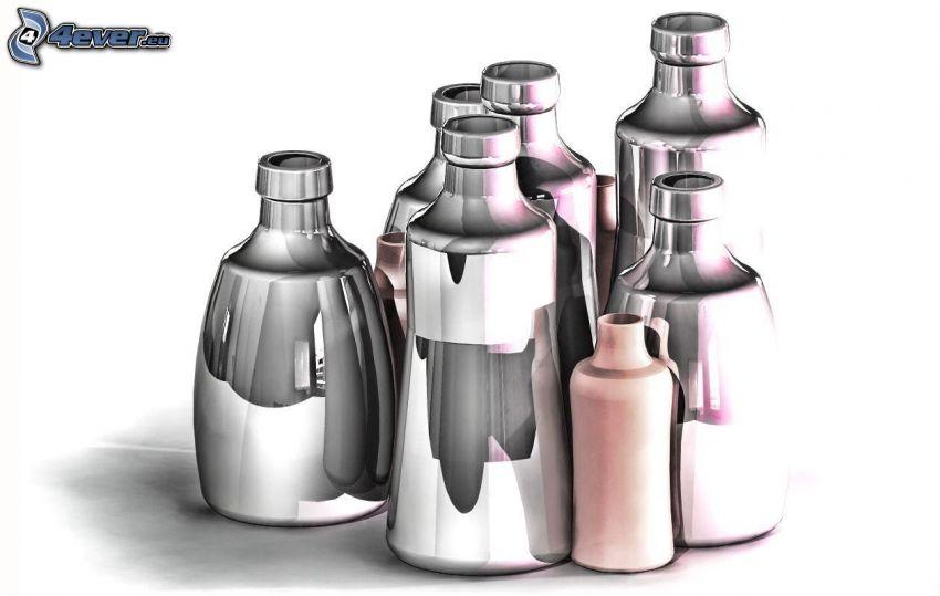 bottiglie, cromo