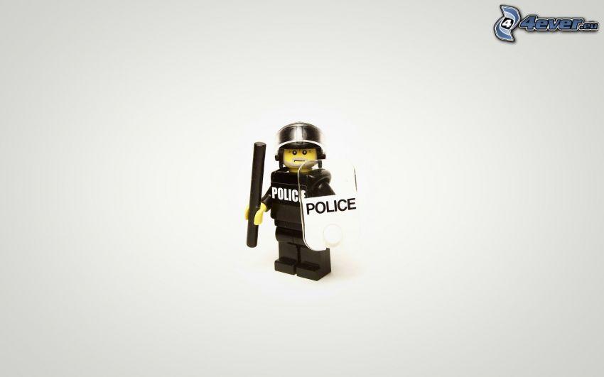 carattere, poliziotto, Lego