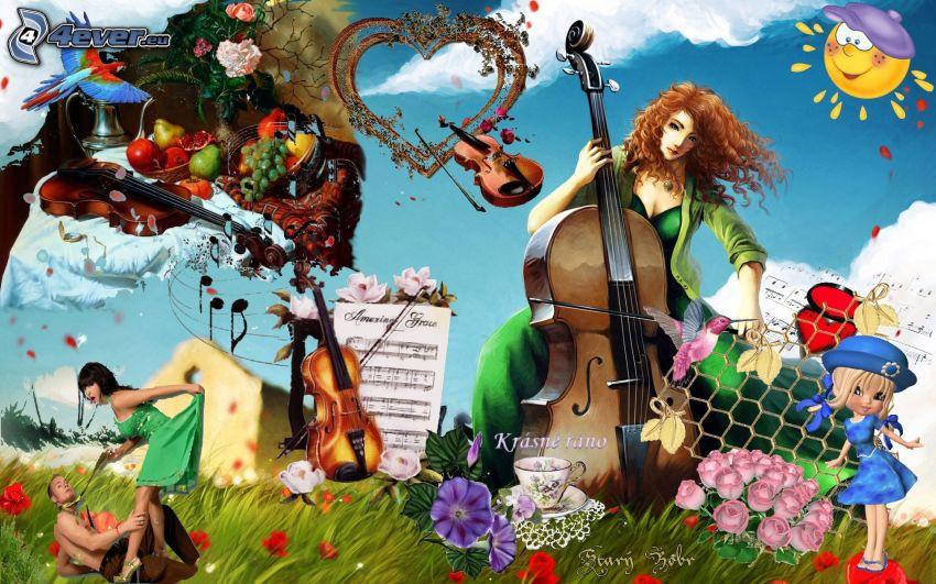 collage musicale, una bella mattina