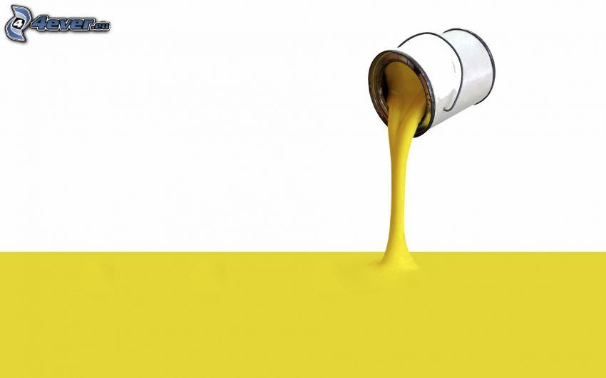 colore giallo, secchio