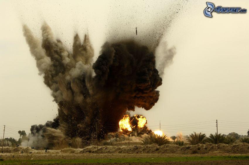 esplosione, bomba