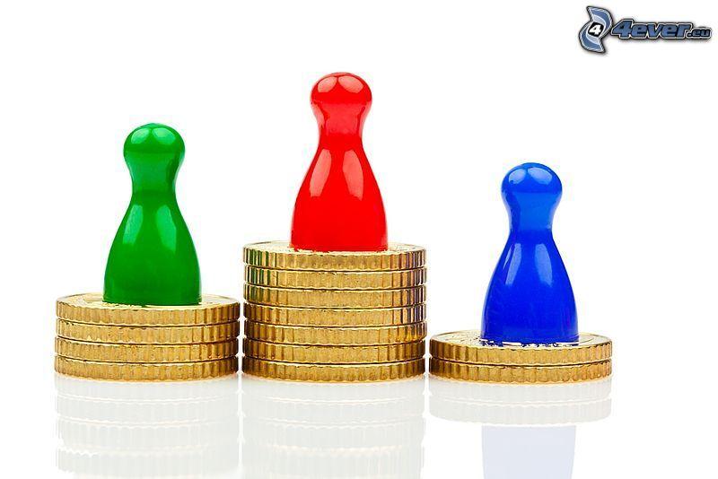 euro monete, figurini