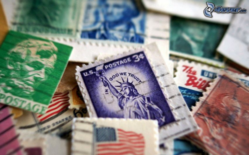 francobollo, Statua della Libertà