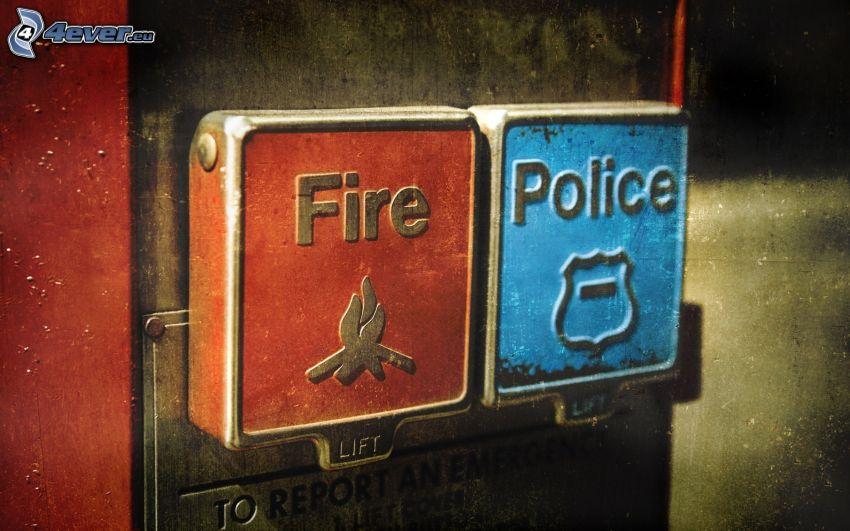 fuoco, polizia