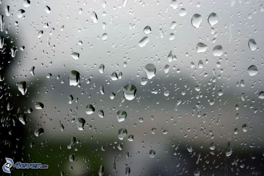 gocce d'acqua, vetro