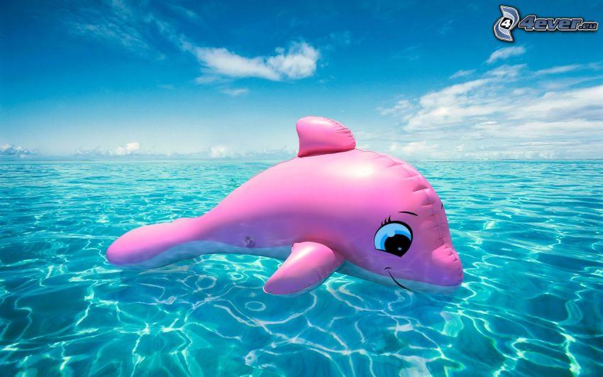 gonfiabile, delfino, mare