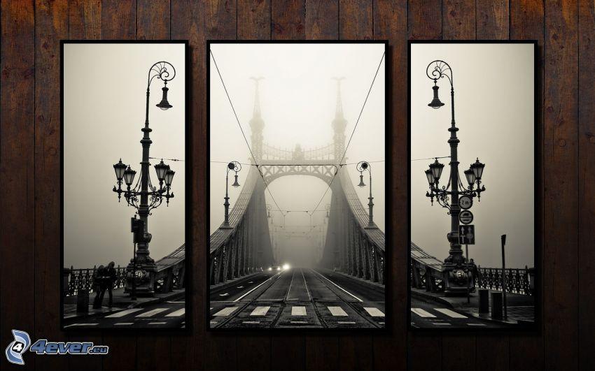 immagini, ponte, lampade