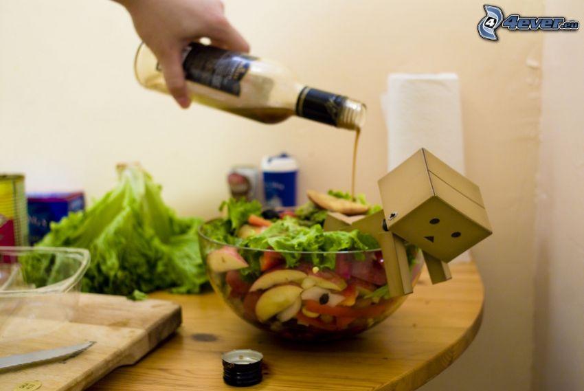 insalata, robot di carta