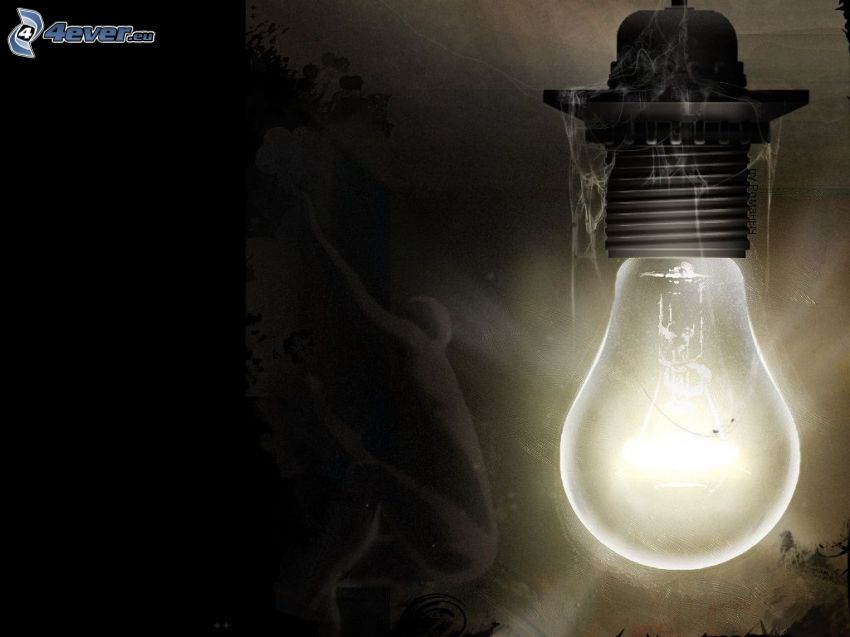 lampadina, luce, ragnatela, fantasma