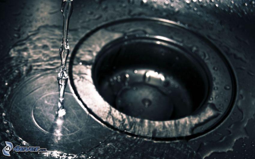 lavandino, acqua