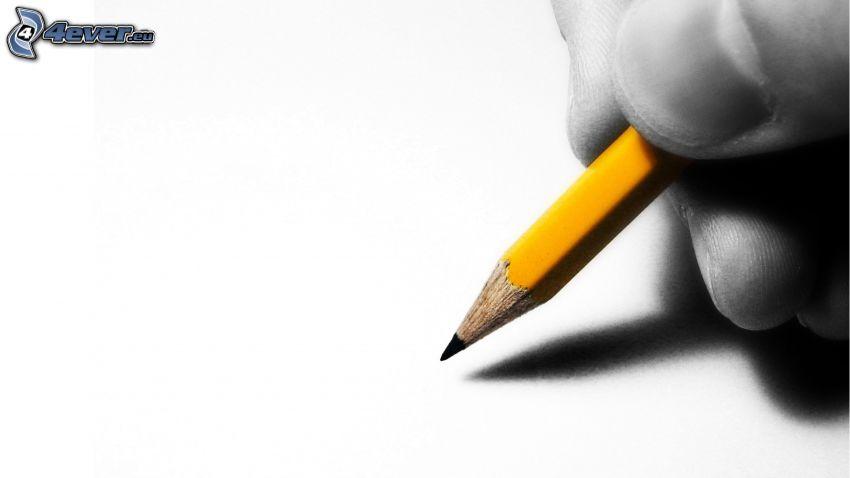 mano, matita