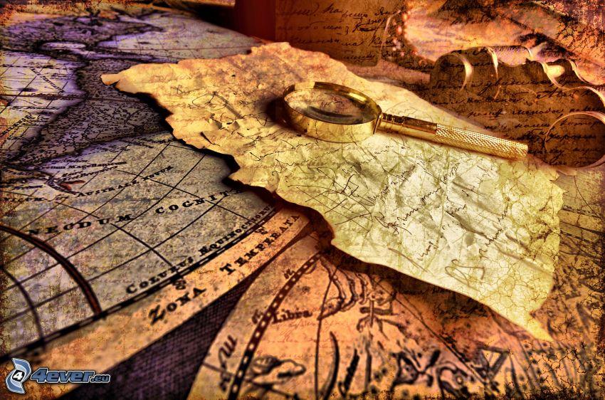 mappa del mondo, lente