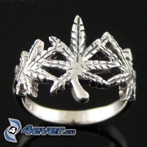 marijuana, anello, accessorio moda