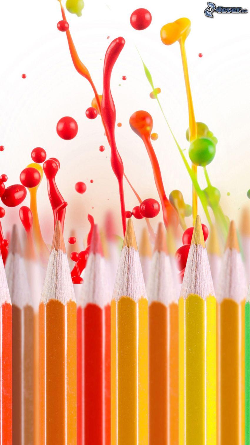 matite colorate, colori