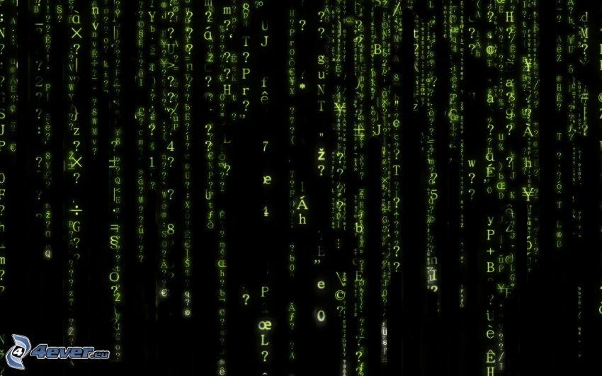 Matrix, Lettere